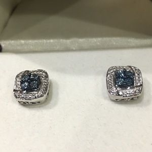 5fba73a23 Kay Jewelers Jewelry | Blue And White Diamond Sterling Silver Studs ...